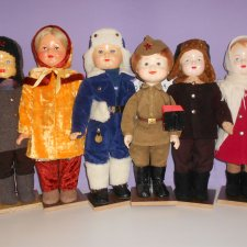 С днём ПОБЕДЫ! Пополнение. Очередная реставрация опилочной куклы России
