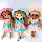 Радужные платьица для Irrealdoll, meadow dolls, lati yellow