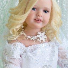 Кукла реборн Любава. Девочка-весна в образе невесты, молд Nicole by Natali Blick