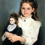 Девочка с куклой. Авторская кукла Lynne and Michael Roche. Marigold Winter, Bonnie baby pink