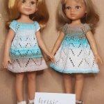 Платье для куклы Паола Рейна 32-34 см