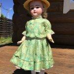платье для антикварной куклы 55 см