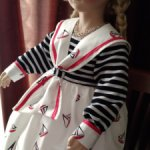 Комплект из платья и берета