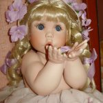 Чудеса под Новый год! Моя долгожданная фарфоровая кукла Виолеттка. Violet, Cindy Marschner Rolfe