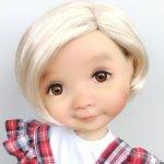 "Парики 7-8"" - Каре без челки, 3 цвета. Подходят Meadow dolls 28 см"