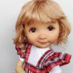 """Парики 7-8"""" - Волнистый, три цвета. Подходят Meadow dolls 28 см."""
