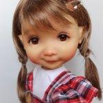 """Парики 7-8"""" - Косички с заколкой, три цвета. Подходят Meadow dolls 28 см."""