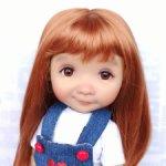 """Парики 7-8"""" - Прямой с пробором и челкой, 6 цветов. Подходит Meadow dolls 28 см"""