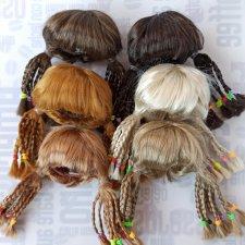 """Парики 5-6"""" - Хвосты с афро-косичками, 6 цветов"""