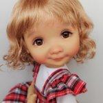 """Парики 8-9"""" - Волнистый, 4 цвета. Подходят Meadow dolls 28 см."""