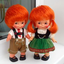 Продам очаровательную парочку рыжиков ГДР от фирмы  Lissy Batz из серии винтаж.  Цена за пару !