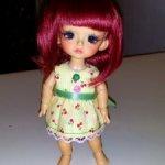 Два милых платьица для кукол БЖД Lati Yellow , PukiFee и аналогичным им кукол