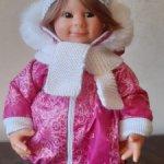 Пальто с шапкой и шарфом на вихтеля