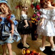 Дружная компания моих фарфоровых девочек. Софиюшка, Цилечка и их подружки