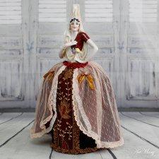 Эсмеральда, фарфоровая антикварная Half-doll