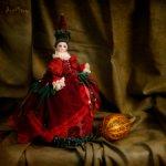 Half doll на основе антикварной французской головки по имени Мнемозина