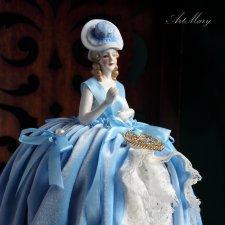 Авторская игольница Агата на основе антикварной куклы-половинки half doll