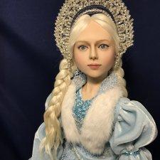 Снегурочка. Авторская кукла Елены Бурыгиной