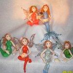 Мои авторские мини куклы феи и русалки