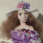 Виолетта, авторская шарнирная кукла Стёпиной Людмилы