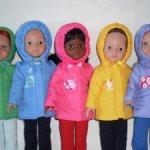 Стёганные курточки и жилеты для кукол Паола Рейна
