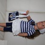 Костюм для Готц,Gotz #3 морская прогулка==сегодня доставка в цене===