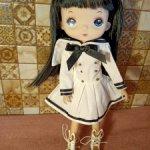 Кукла брюнетка #2 в морском стиле типa hola,monst ==cегодня 2500 с доставкой==