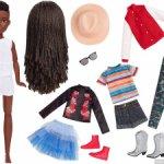 Шарнирная кукла с набором одежды #2 Сreatable world Mattel=== сегодня 2000 !!!===