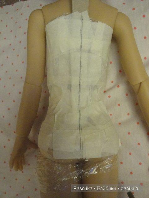 Как сделать выкройку корсета для куклы не требующую подгонки