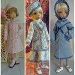 """Пальто из кашемира. Коллекция """"Кружевная сказка"""" для кукол 42-45 см ростом."""