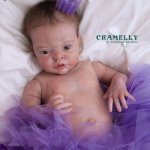 Кукла реборн Фиалочка из мастерской CRAMELLY