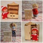 Деревянная мебель для кукол ростом 20-30см