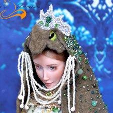 Фарфоровая шарнирная кукла Царевна-лягушка от SisterFox
