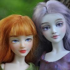 Две Розочки. Шарнирные куклы от SisterFox