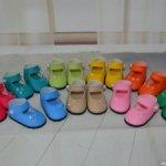 Большой набор материалов для изготовления обуви