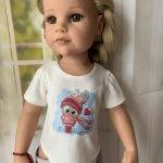 Трикотажные футболочки для кукол Готц 42-50 см