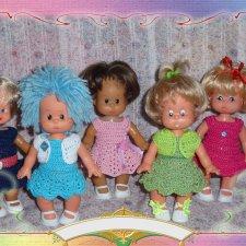 Мои куколки SCHALKAU и коллекция вязаных нарядов