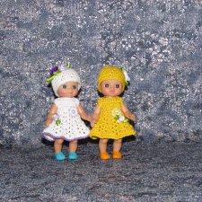 Авторские вязаные наряды на маленьких кукол Шу-шу (Chou - chou)