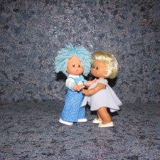 Моя новая девочка Ева и её друзья (куколки ГДР Werk Schalkau-косолапки)