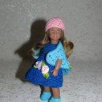 Авторские вязаные наряды для кукол American Girl mini