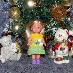 Авторские вязаные наряды и платья на маленьких кукол Еви - симба ( EVI - simba - 11 см )