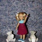 Авторские вязаные наряды на кукол kidz n cats mini 21 см