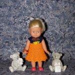 Вязаные платья на кукол Королинки мини - 20 см ( Corolle mini - 20 cm )