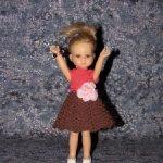 Вязаные платья на кукол Паола Рейна мини - 21 см ( Paola Reina mini - 21 cm )