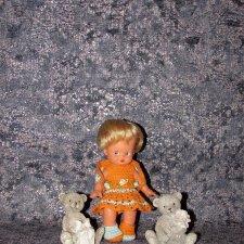 "Вязаный наряд ""Suzette and Brad"" на кукол косолапок и кисс ми - 17 см и 18 см"