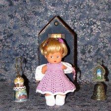 """Вязаный наряд """"Барыня"""" на кукол косолапок и кисс ми - 17 см и 18 см"""