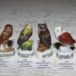Французская фарфоровая коллекционная миниатюра. Совы