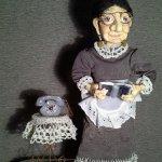 Бабушка Маланья, авторская кукла