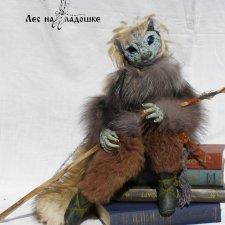 Игрушка ручной работы Зеленоглазая странница из серии Лес на ладошке