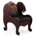 """Шикарное большое кресло """"Львы"""" для бжд кукол от 60см и больше."""